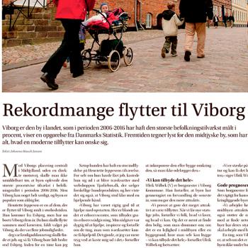 Rekordmange flytter til Viborg